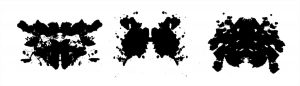 vector rorschach inkblot test symmetrical abstract ink stains